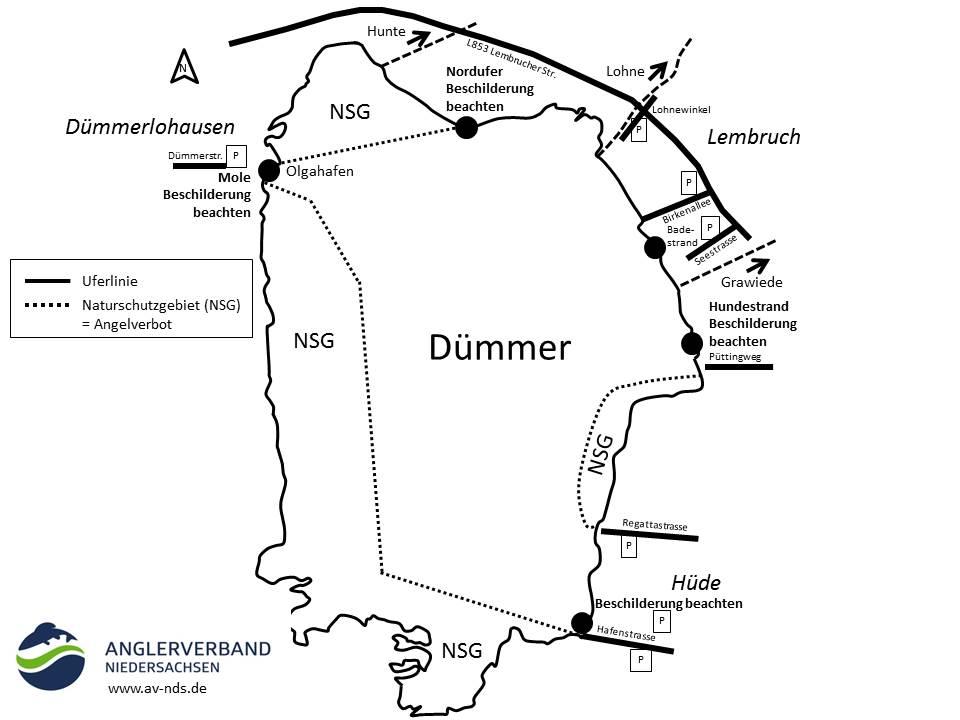 Karte des Dümmer Sees