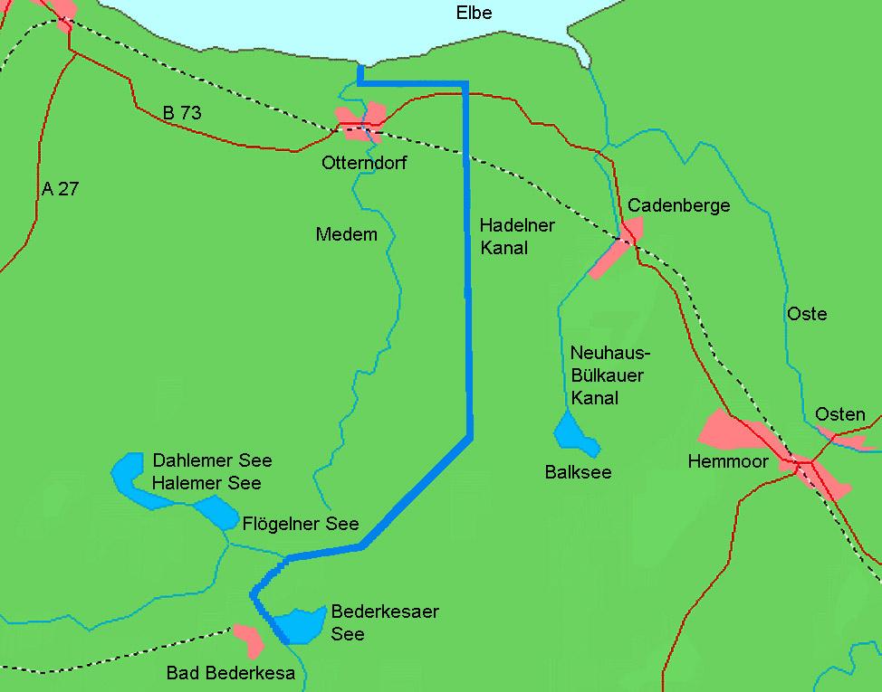 Übersicht des Hadelner Kanals
